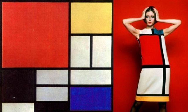 Image result for yves saint laurent mondrian dress